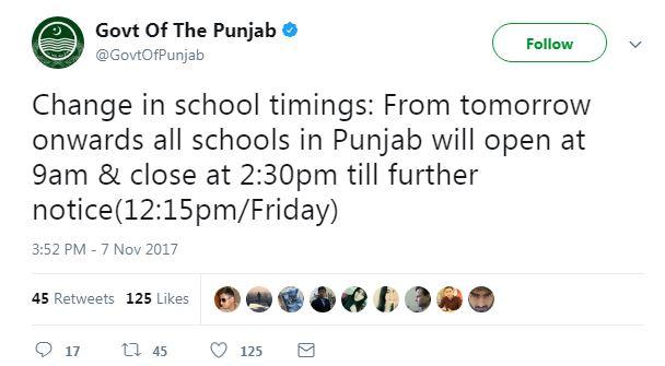 Smog is affecting school timings